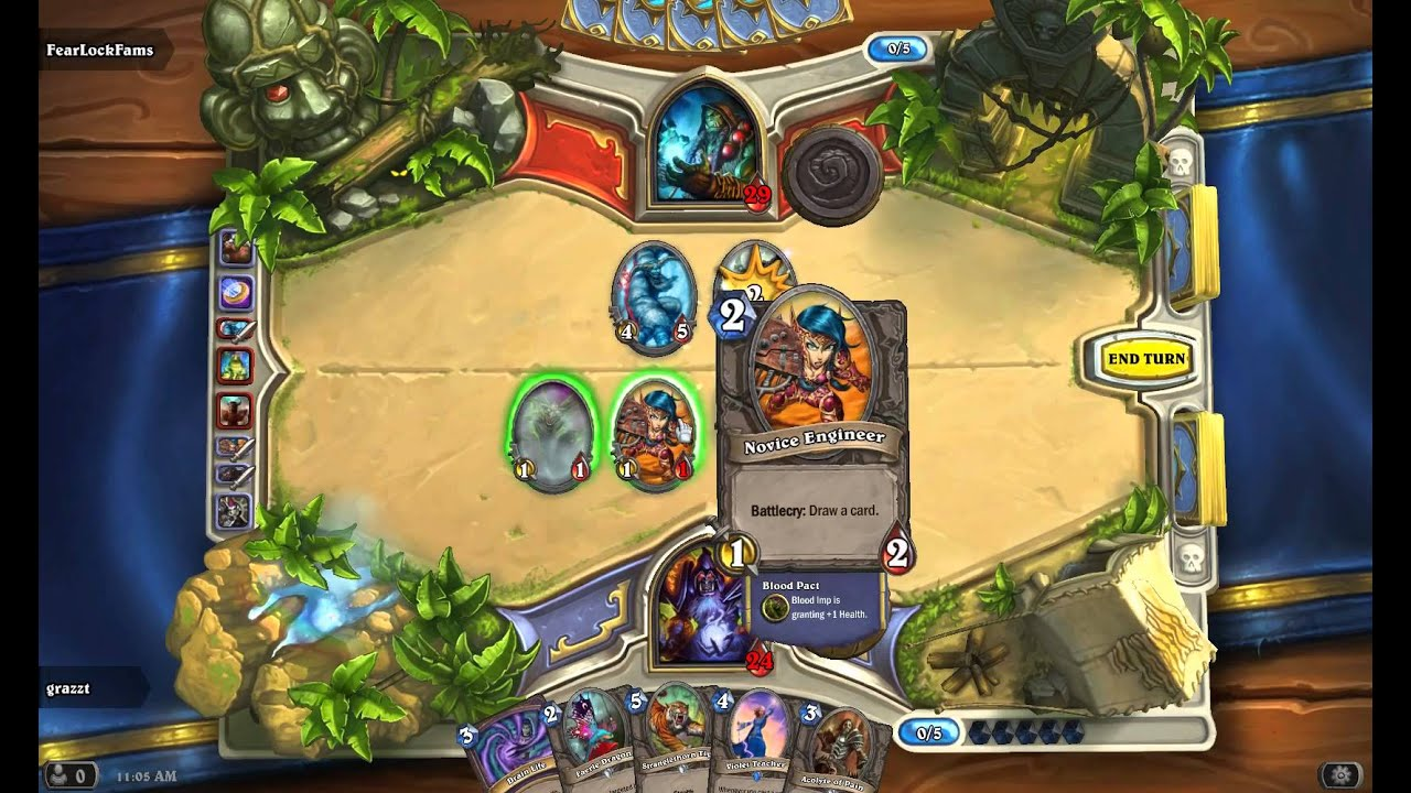Hearthstone Arena under Wine/Linux Mint