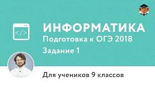 Інформатика   Підготовка до ОГЕ 2018   Завдання 1