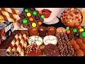 ASMR CHOCOLATE DESSERTS 초콜릿 디저트 먹방 EDIBLE CUP, ICE CREAM, CAKE, WAFFLE, WAFER STICK EATING MUKBANG