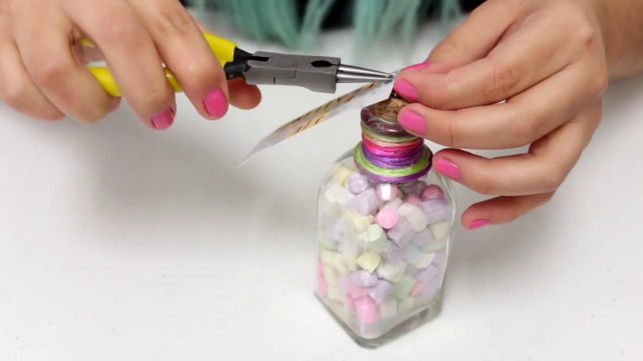 Diy san valentin regalos con frascos de vidrio san - Botellas de vidrio para regalo ...