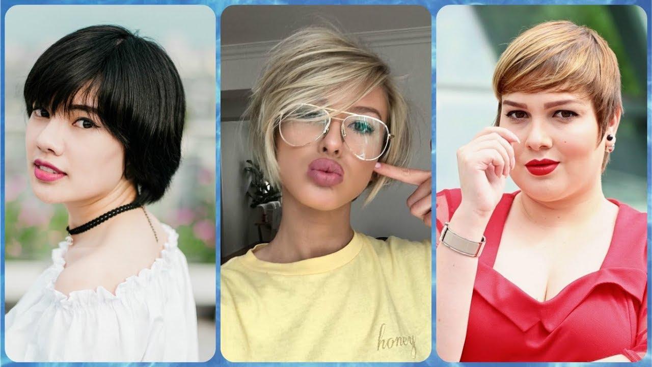 Tagli capelli 2019 corti donne viso tondo