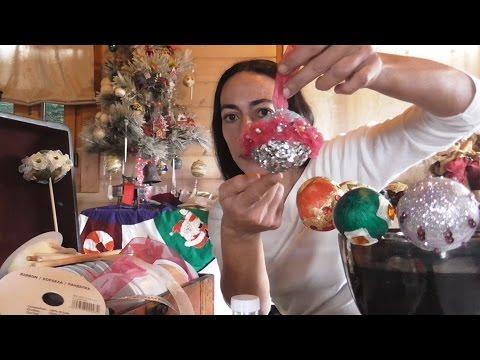 How to make Christmas balls (styrofoam)-Πως φτιάχνω Χριστουγεννιάτικες μπάλες (φελιζόλ)
