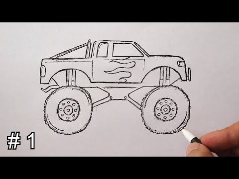 How To Draw A Monster Truck Easy - Part #1