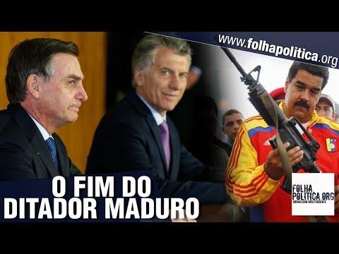 URGENTE: Bolsonaro e Macri 'enquadram' Maduro, ditador da Venezuela, e anunciam..