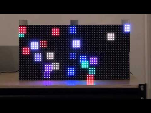 Led Video Wall Demo 64x32 Pixel Full Color P 7 62mm Youtube