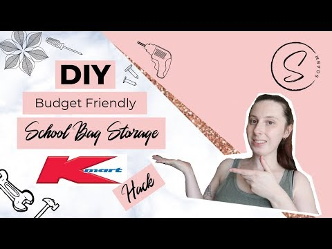 diy-school-bag-storage-||-kmart-hack-||-budget-storage-diy