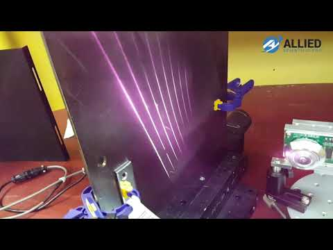 Laser Cleaning System - Cleaning Paint from a metal surface Using Polygon Scanner