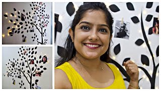 Passage Area Wall Makeover ( Rental Friendly) || How  To Make A Memory Tree || Interior Maata