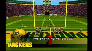 Madden NFL 97 PlayStation New England Patriots vs Green Bay Packers