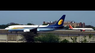 Runway view of Delhi Airport - A view of Taxiing, takeoff,  takeoff run and parked planes!!