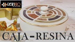 Como decorar una lata con Resina epoxi RESINPRO Caja dulcero con lata reciclada