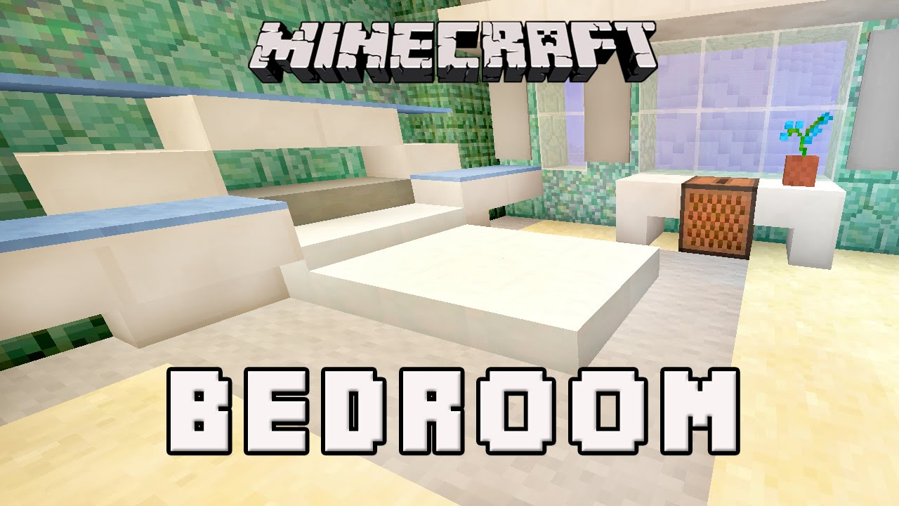 Minecraft Tutorial: How To Make A Modern Bedroom Design (Coral House ...