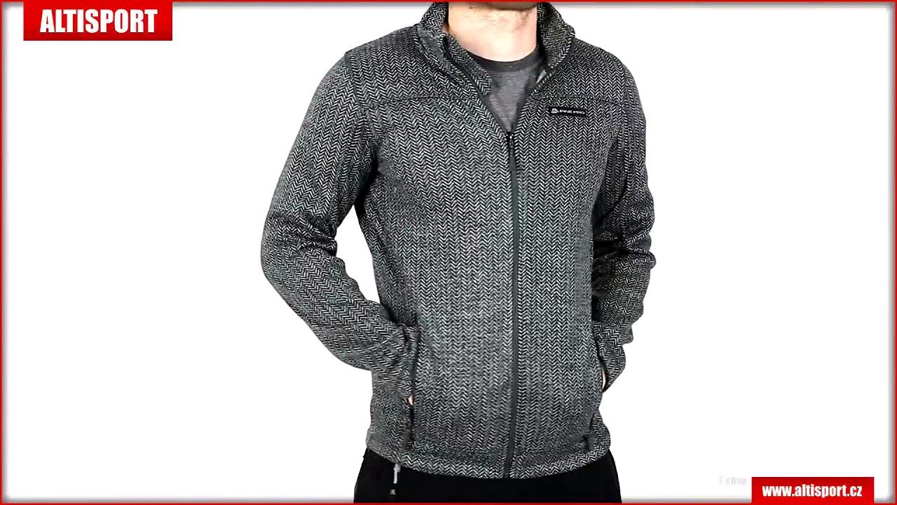 4168d0463514 pánský svetr alpine pro eneas 3 mpll040 tmavě šedá - YouTube