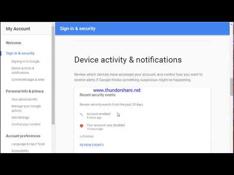 How to see your gmail access activity