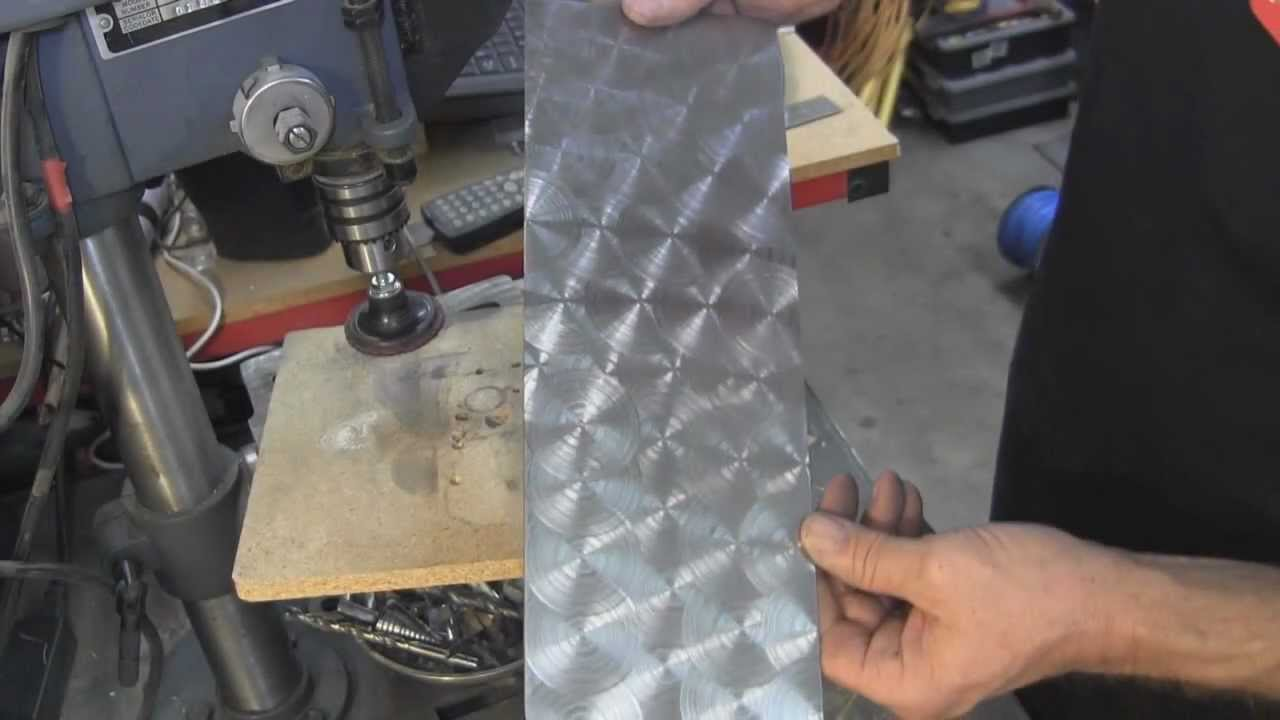 My Shop Circular Patterns Swirls On Metal Youtube
