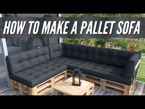 DIY Sofa Bed | How to Build a Modern Pallet Sofa Bed (2021)