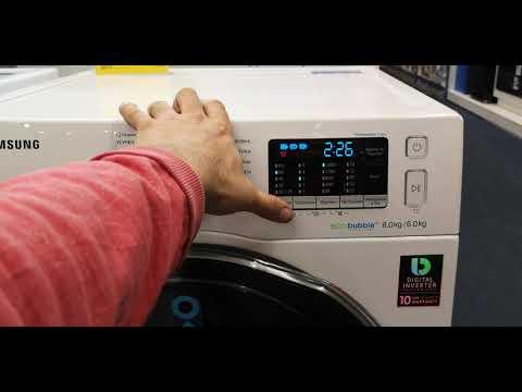 ✅ Обзор 2 в 1 Стиральная + сушильная машина Samsung Wd80k5410ow на 8 кг