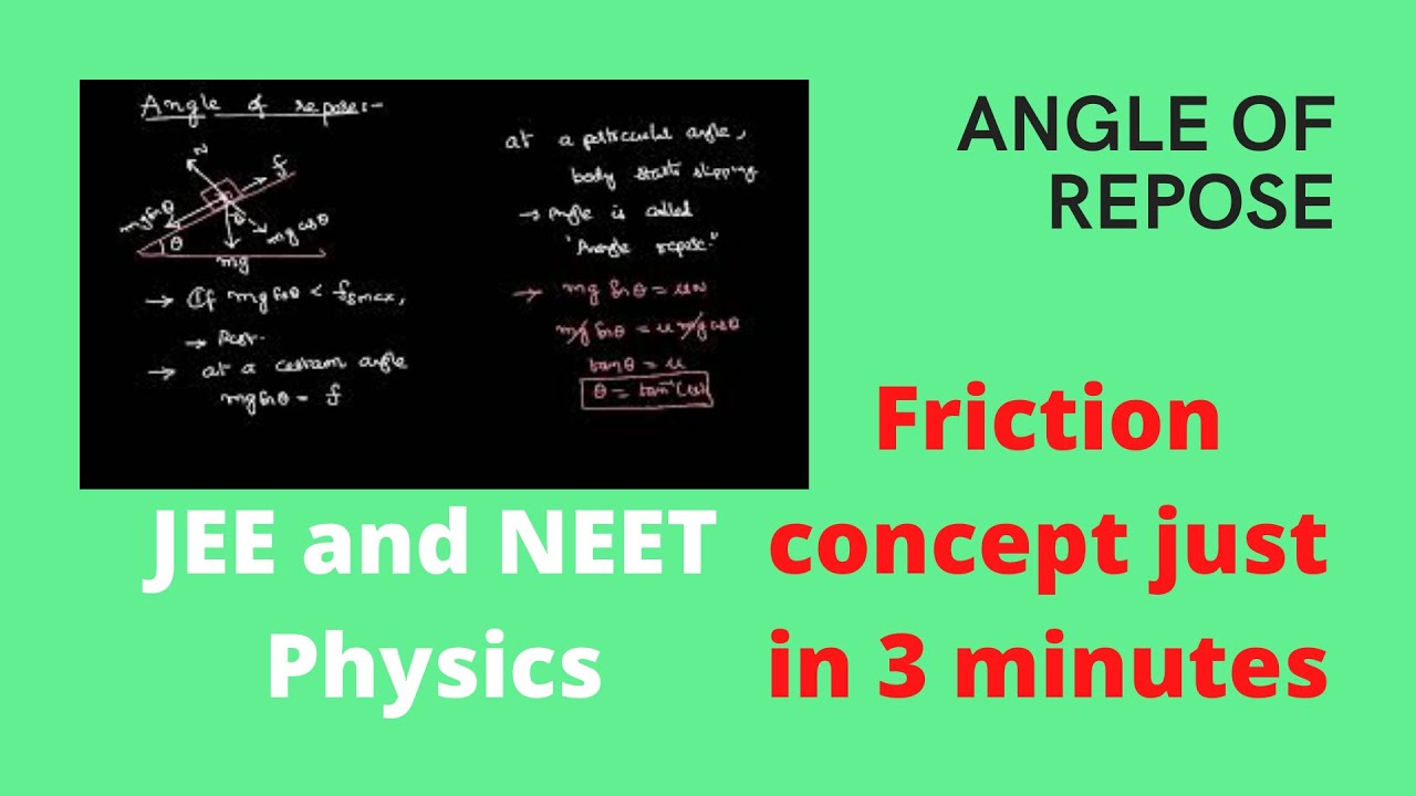 angle of repose in friction pdf