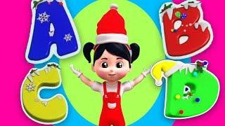 chanson abc de noël | chanson pour enfants | vidéo pour les enfants | Christmas ABC Song For Kids
