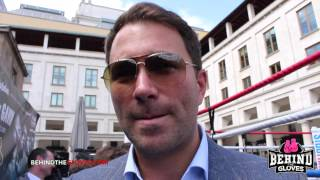 Eddie Hearn discusses Rule Britannia card, James DeGale, Khan vs Algieri and Froch vs Golovkin