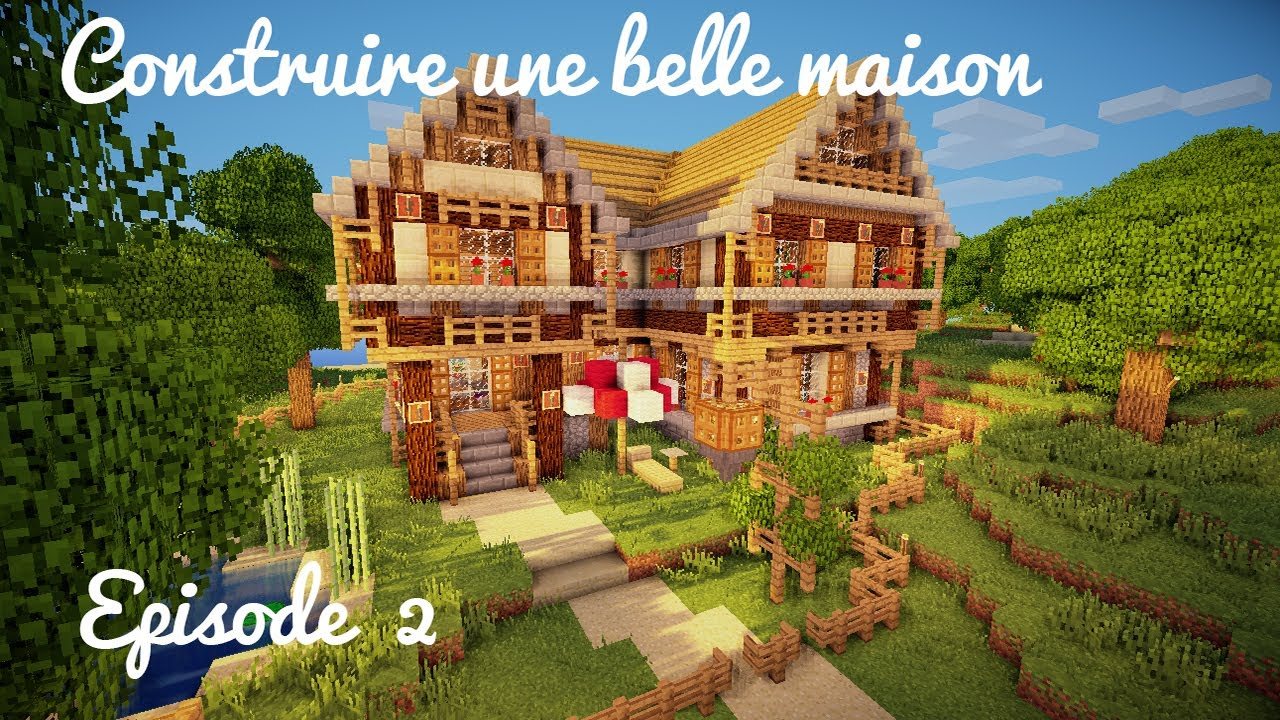 Construction d 39 une belle maison etage toit for Belle maison minecraft