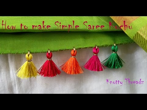 | DIY | How to make Simple Yet Elegant Saree Kuchu Design at Home | Tutorial