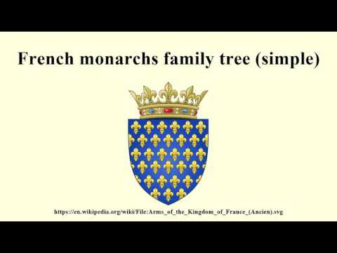 French monarchs family tree (simple)