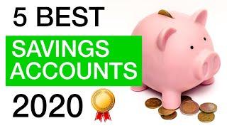 The 5 BEST Online Savings Accounts in 2020!