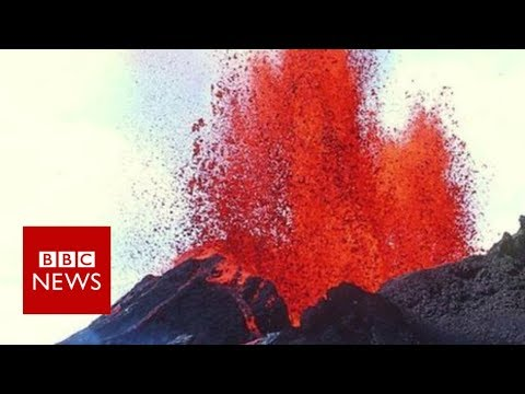 Lava pours out Hawaii