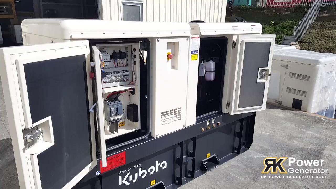 Planta Elctrica De 20KW Kubota RK Power Generator Corp