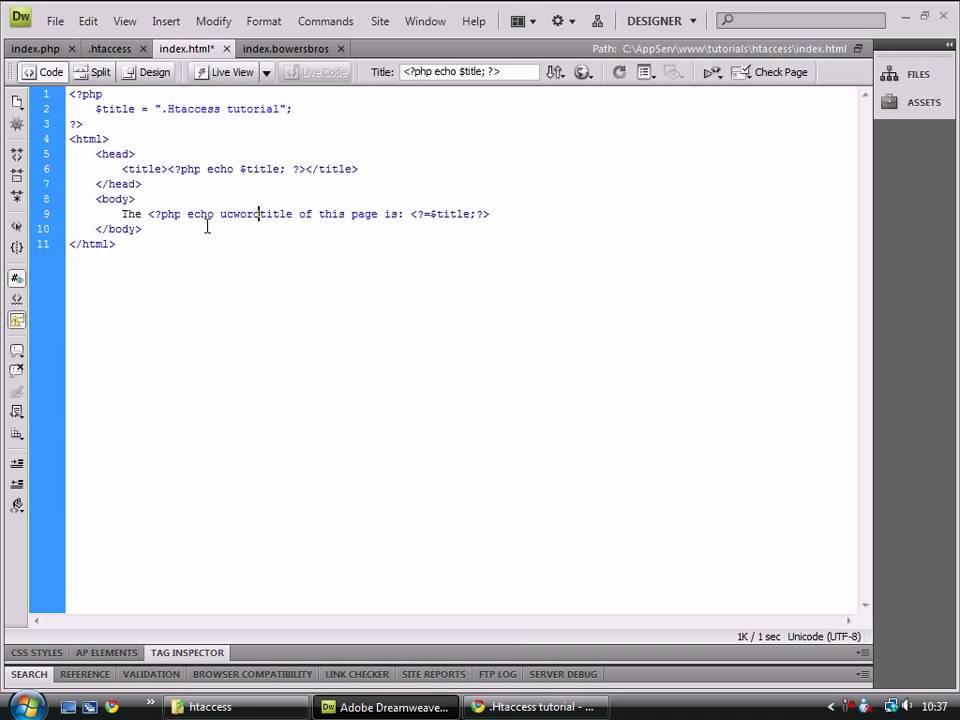 .HTACCESS tutorial - YouTube
