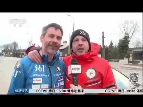 Kai Markus Xiong beim Ziellauf von Deutschland nach China