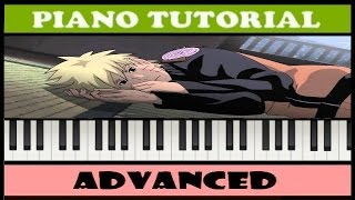 Naruto - Sadness and Sorrow - Easy Piano Tutorial (Synthesia)