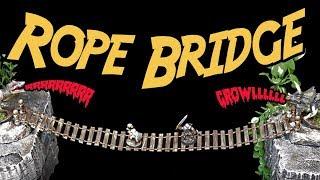 ROPE BRIDGE Tutorial Miniature Diorama Craft for Dungeons and Dragons  (DM's Craft #195)