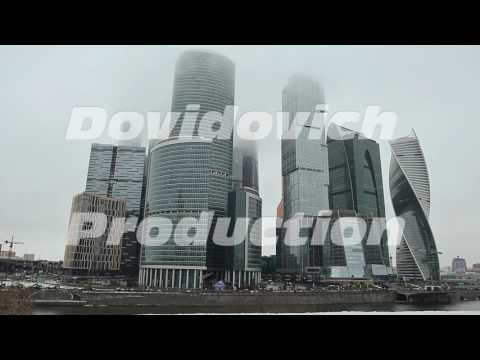 Moscow. New architectural high-rise buildings. Evolutionary tower in the financial and office center