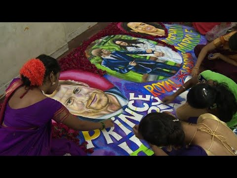 Indian art students create works inspired by royal wedding