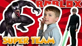 venom teaming up with luke skywalker to save the world   roblox super hero tycoon