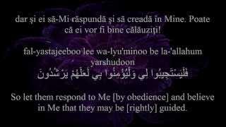 Holy Quran Surat Al-Baqarah [2:185-186]! Romanian and English translation. Arabic transliteration.