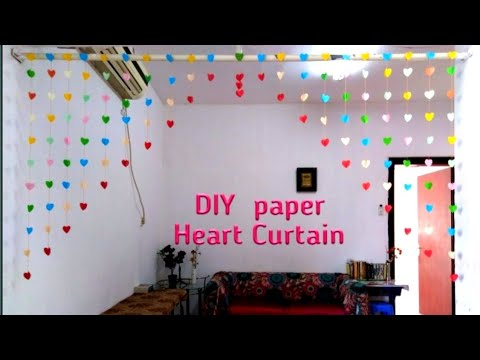 DIY  Paper Heart Curtain I Valentine's Day Decoration