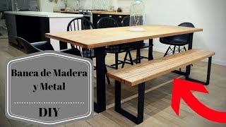 Video Cómo hacer una Banca de madera y metal DIY ¡ CON PLANOS!! download MP3, 3GP, MP4, WEBM, AVI, FLV Juli 2018