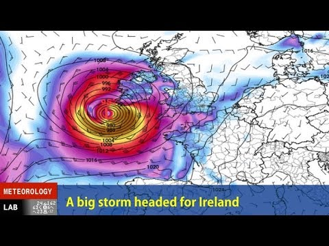NIGHTLY WEATHER - Sun 10/15/2017 - (OPENING DATE TITLE IS ERRONEOUS) - Hurricane Ophelia and Ireland