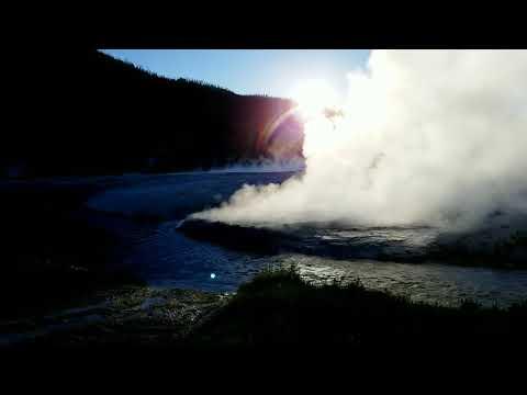 Heartbeat of Yellowstone, Black Sand Basin, Live, On Scene - Geyser Popping in 4K