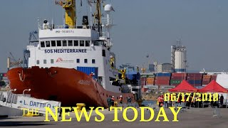 Migrant Boat Turned Away By Italy Arrives In Spain | News Today | 06/17/2018 | Donald Trump