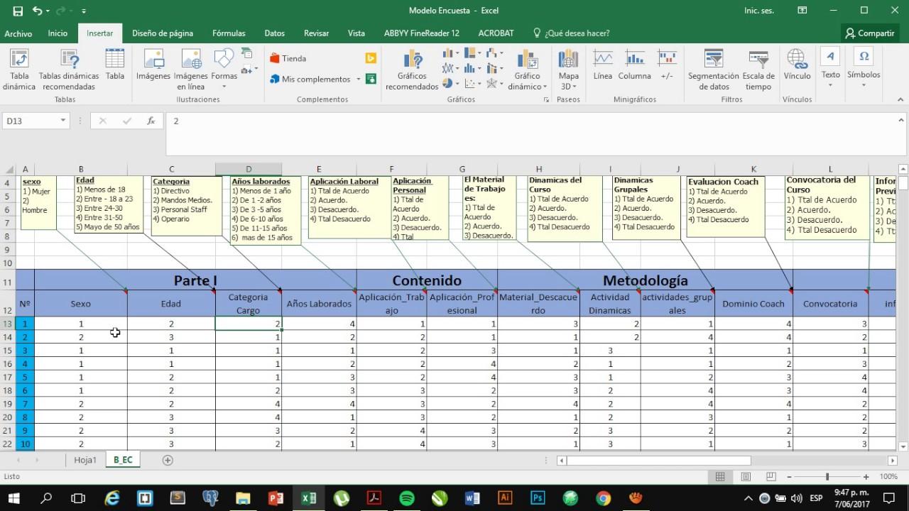 Procesar Encuestas En Excel