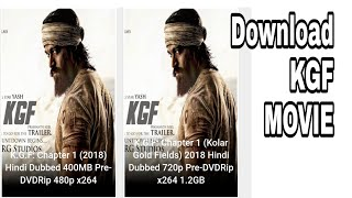 How to download KGF movie in hindi dubbed