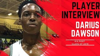 A1 Hoops Report Coach Allen interviews 2019 Darius Dawson