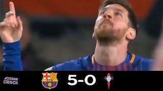 FC Barcelona V Celta de Vigo 5-0 | 11/01/18 | GOLES Y RESUMEN