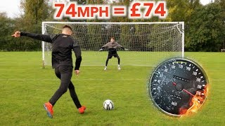 Download Paying People to Hit their Hardest Shot (1mph = £1) Mp3 and Videos