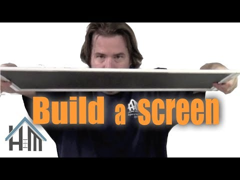How To Build A Screen For A Window. Make A Screen. Any Size! Easy! Home Mender