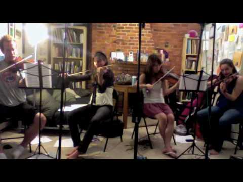 """Violin recording session for Box Five's upcoming album, """"Leave the Earth Behind"""""""